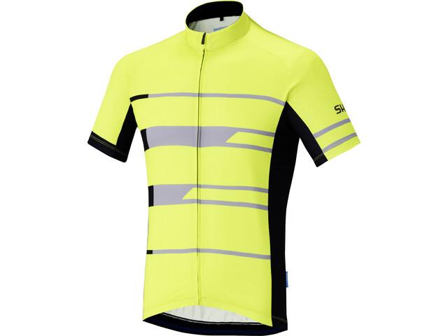 Shimano Team Kurzarm Trikot Herren neon yellow